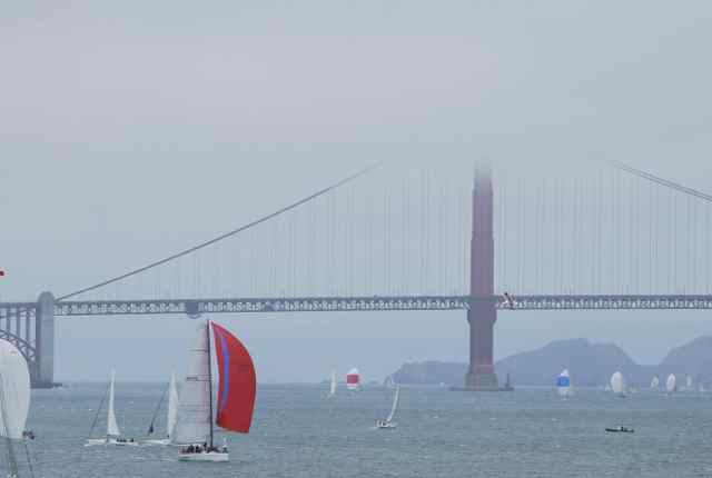 Sailboats in the bay
